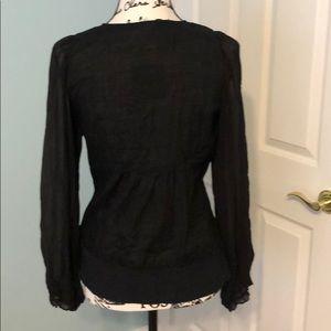 Anthropologie Tops - Anthropologie black long sleeve blouse, Sz 8